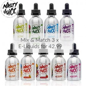 Mix & Match 3 x Nasty juice 50ml